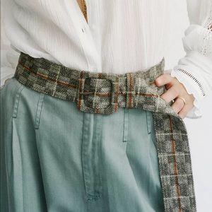 Free People Wool Blended Belt